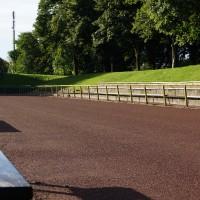 Sanierung der Laufbahn - Sportplatzsanierung Maschstadion - Fertigstellung